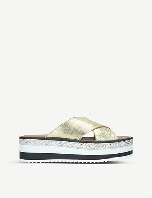 CARVELA Karlos embellished leather wedge sandals