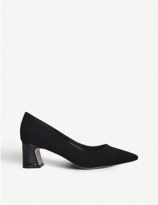 NINE WEST: Jac suede heeled courts