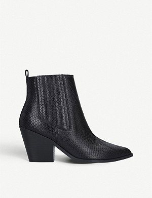 NINE WEST Lexa snakeskin-effect leather Chelsea boots