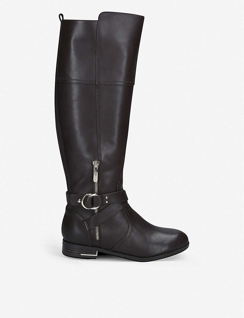 NINE WEST: Linore mid-calf leather boots