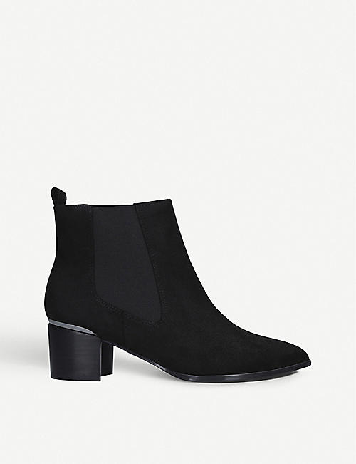 NINE WEST: Taye faux-suede ankle boots