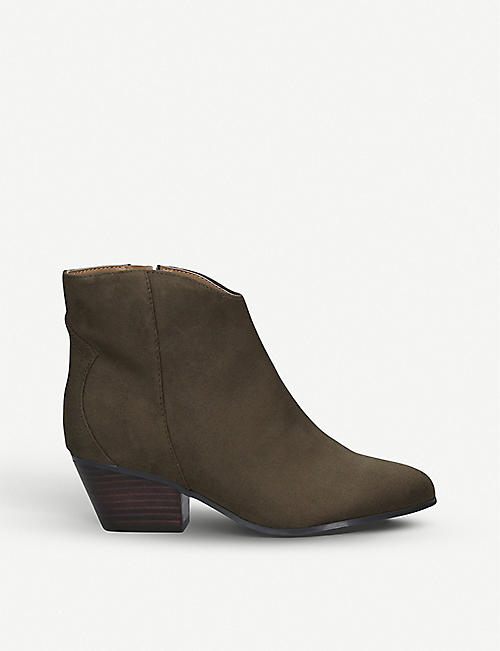 NINE WEST: Tristin faux-suede ankle boots