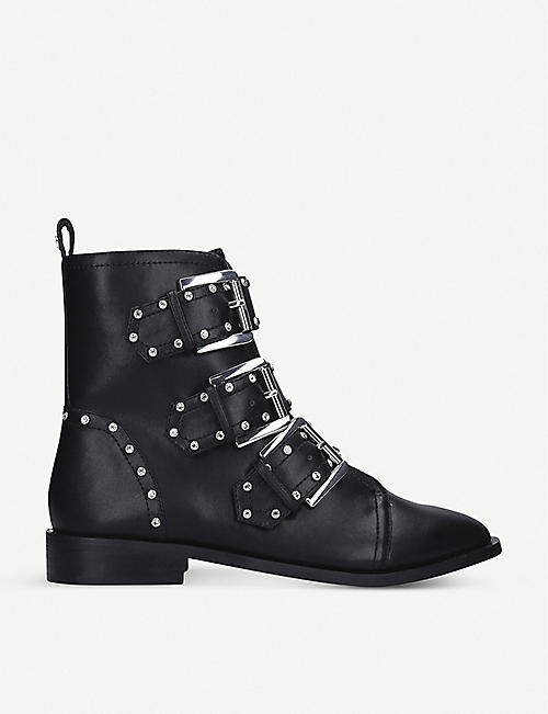 KG BY KURT GEIGER Tianna studded faux-leather biker boots