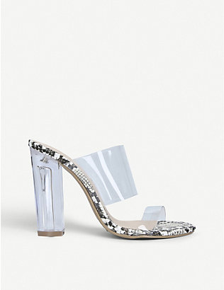 KG KURT GEIGER: Ffion transparent two-part sandals