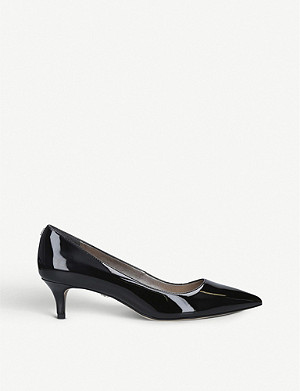 SAM EDELMAN Dori patent-leather heeled courts