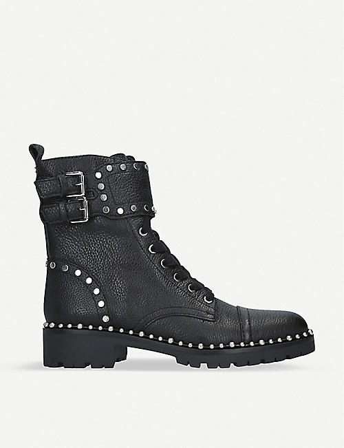 SAM EDELMAN Jennifer leather combat boots