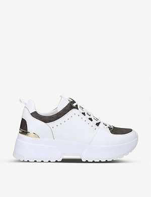 MICHAEL MICHAEL KORS Cosmo leather and canvas trainers
