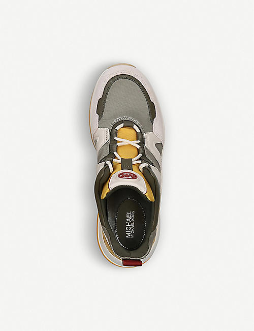MICHAEL MICHAEL KORS Olympia mesh and leather trainers