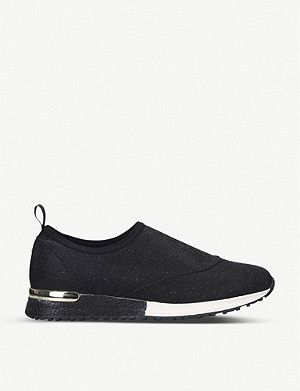CARVELA COMFORT Cracker metallic knitted trainers
