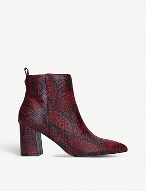 KG KURT GEIGER Suki snakeskin faux-leather ankle boots