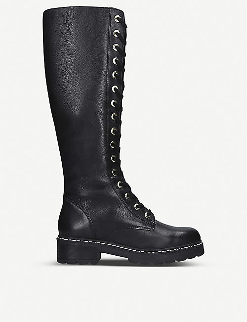 CARVELA: Social knee-high lace boots