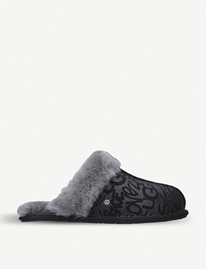 UGG Scuffette II suede and shearling slippers