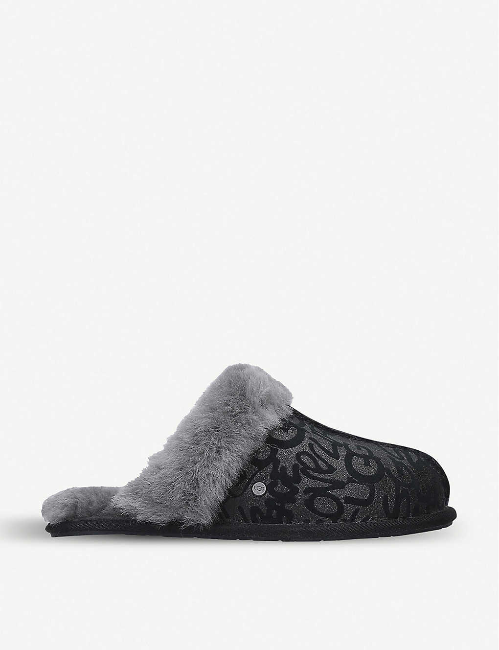 UGG: Scuffette II suede and shearling slippers