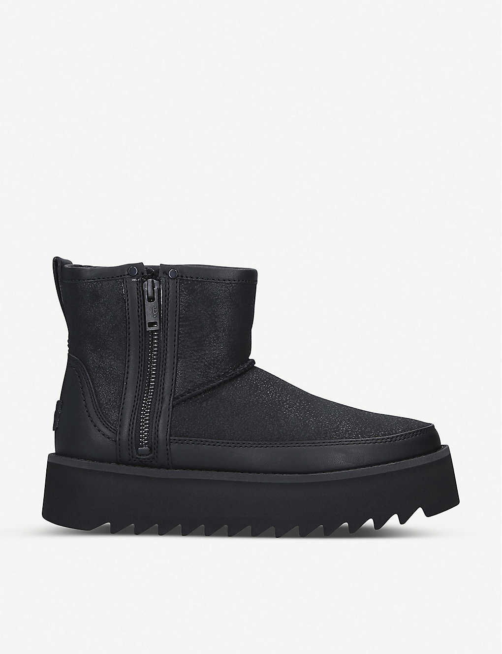 UGG: Rebel leather platform biker boots