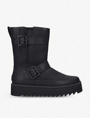 UGG Classic Rebel Biker leather boots