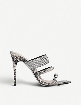 KG KURT GEIGER: Fable embellished sandals