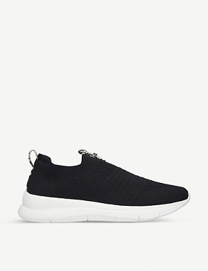 CARVELA COMFORT Cosmic croc-embossed knitted sock trainers