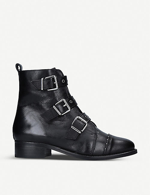 NINE WEST: Cally leather ankle boots