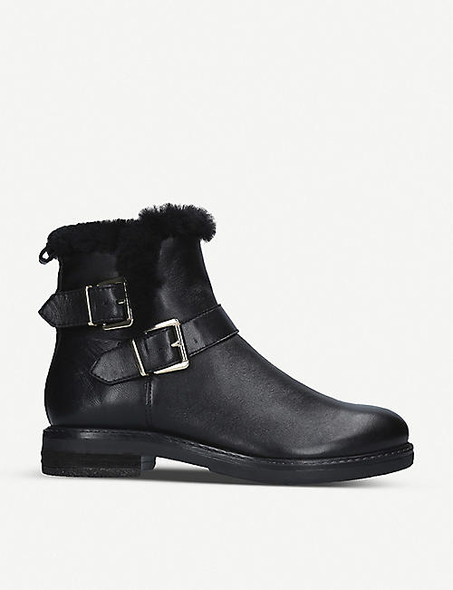 NINE WEST: Cloud leather ankle boots