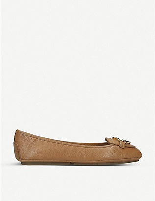 MICHAEL MICHAEL KORS: Lillie leather ballet flats