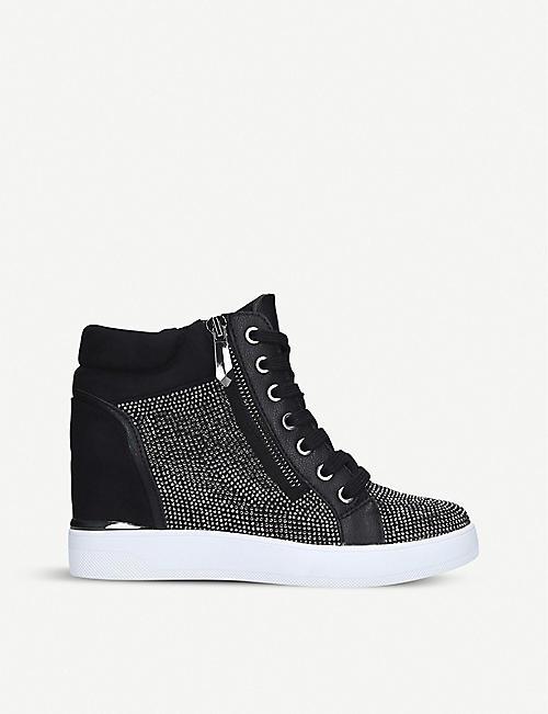 Calvin Klein Carine Schwarz Wedges Schuhe Damen | Online