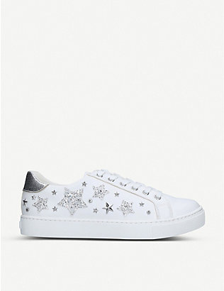 ALDO: Orion glitter star-embellished trainers