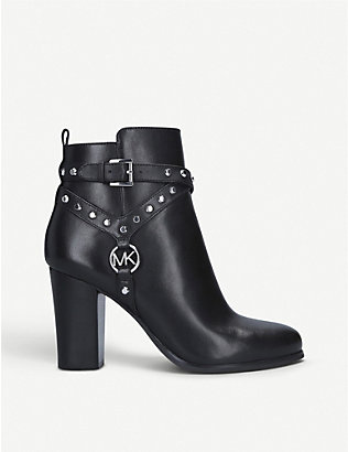 MICHAEL MICHAEL KORS: Preston studded leather ankle boots