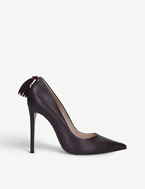 CARVELA Action snakeskin-print leather courts