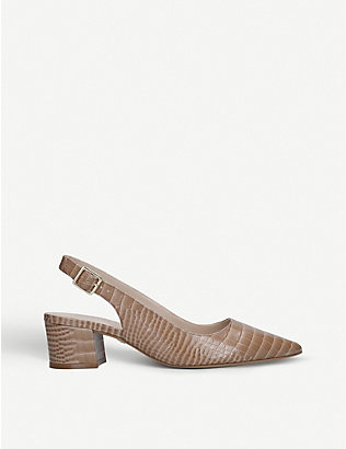 CARVELA: Aspire snakeskin-print leather sandals
