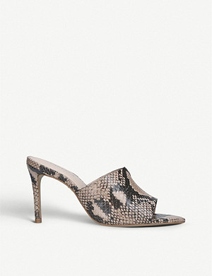 CARVELA Guru snakeskin-print leather heeled sandals