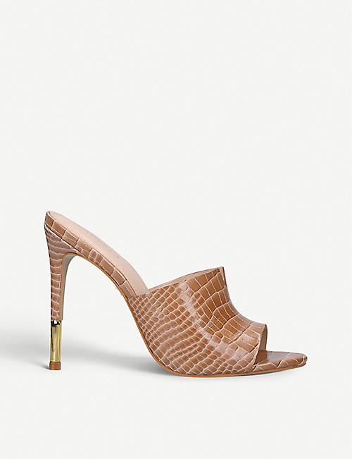 CARVELA Gutsy snakeskin-print leather sandals
