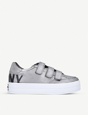 DKNY Savi logo-embellished leather trainers