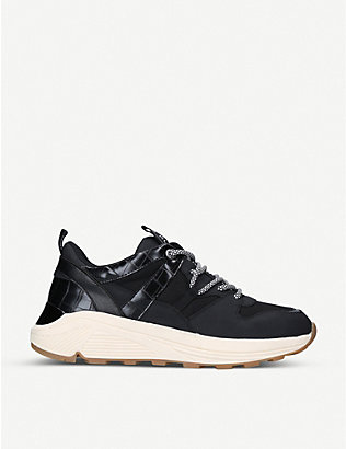 KG KURT GEIGER: Loaded leather platform trainers
