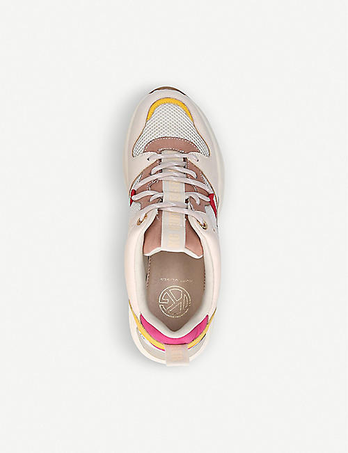 KG KURT GEIGER Loaded contrast-panel trainers