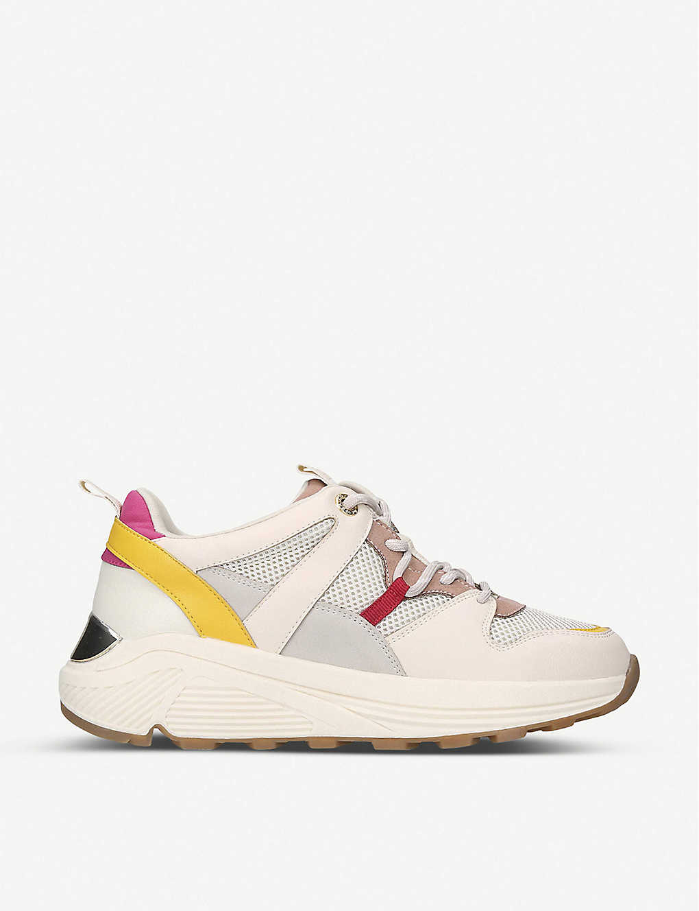 KG KURT GEIGER: Loaded contrast-panel trainers