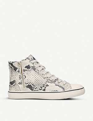 CARVELA Legendary snakeskin-embossed leather high-top trainers