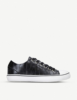 CARVELA Legend croc-embossed woven trainers