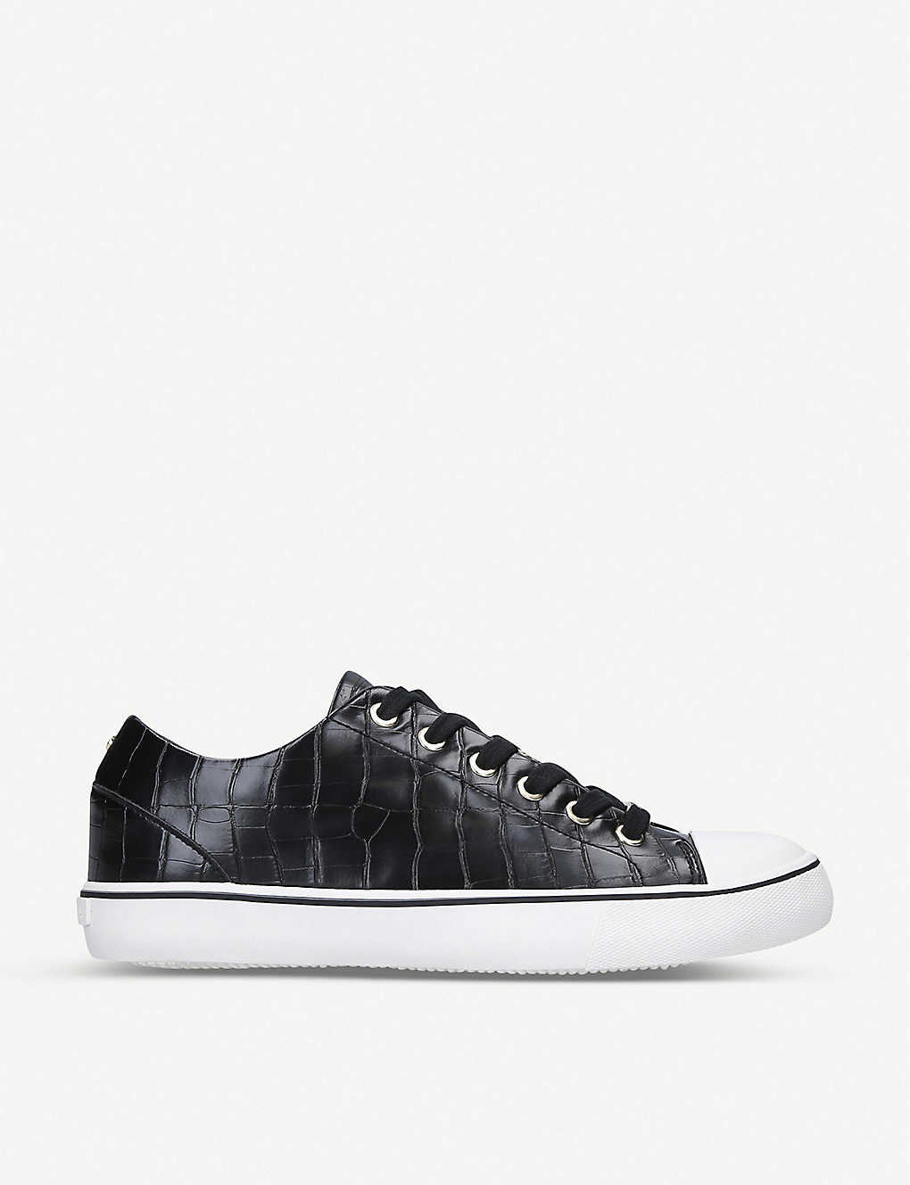 CARVELA: Legend croc-embossed woven trainers