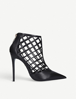 CARVELA Graphic lattice suede boots