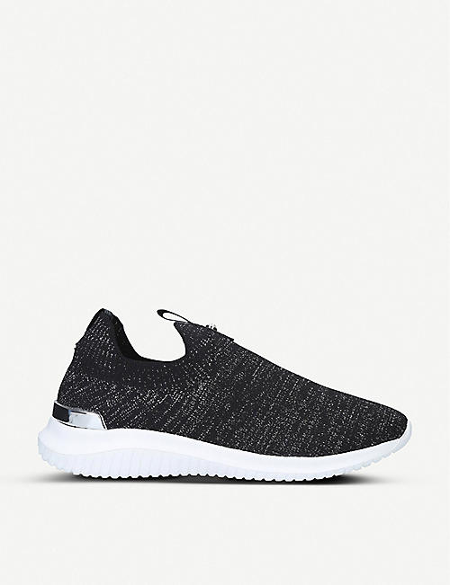 KG KURT GEIGER Lifted knitted sock trainers