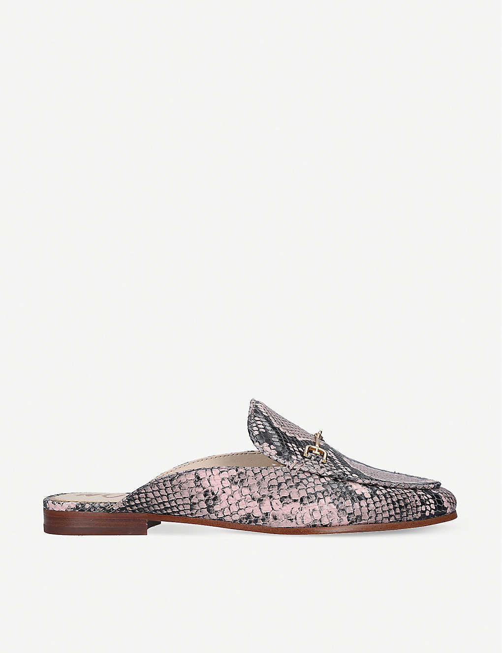 Sam Edelman LINNIE SNAKE-EMBOSSED LEATHER MULES