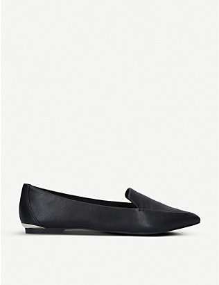 CARVELA: Land leather point-toe flats