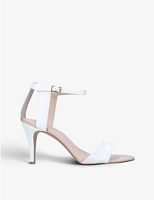CARVELA: Kollude crocodile-embossed leather sandals