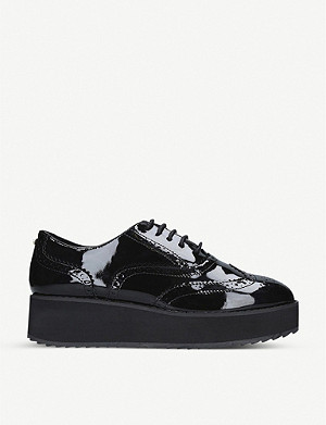 CARVELA Legitimate patent-leather flatform brogues