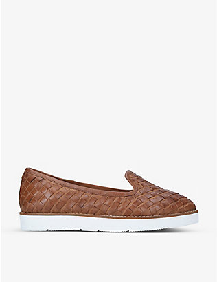 CARVELA: Mighty woven leather loafers