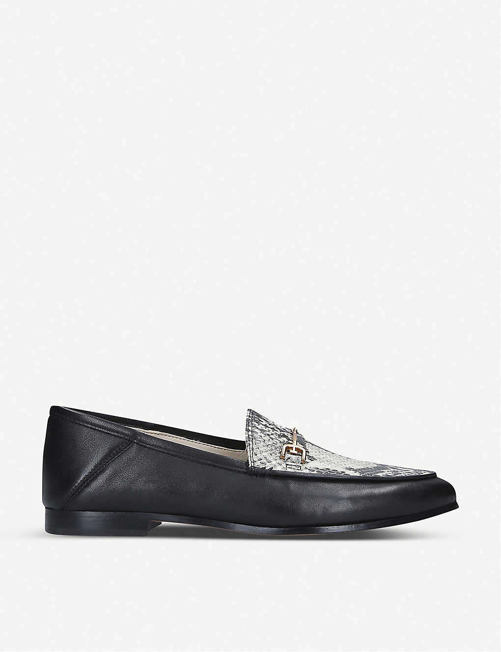 SAM EDELMAN: Loraine snake-embossed leather loafer