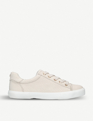CARVELA Light reptile-embossed faux-leather trainers