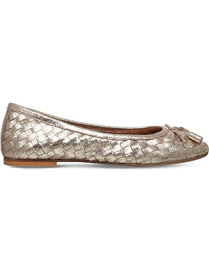 CARVELA Luggage metallic-leather ballet flats