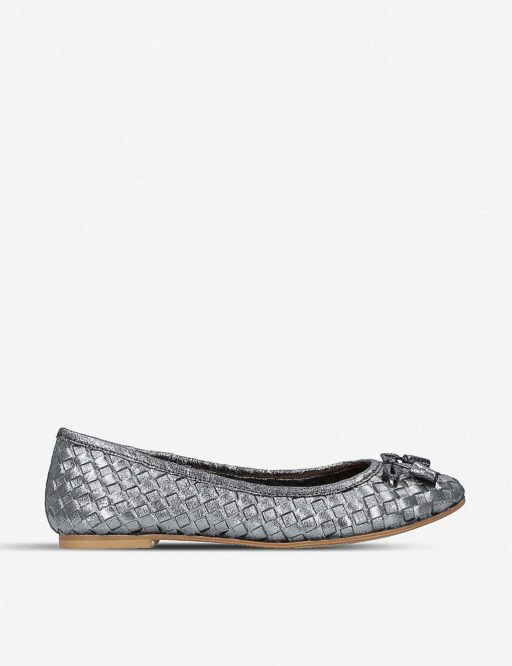 ef20f9874cabb Luggage metallic-leather ballet flats