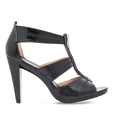 6edbeedca3b0 MICHAEL MICHAEL KORS Berkley patent-leather heeled sandals (Black